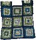 Top en assemblage de carrés Granny (20)