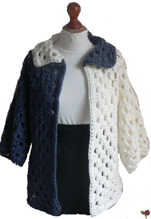 Modele veste longue au crochet