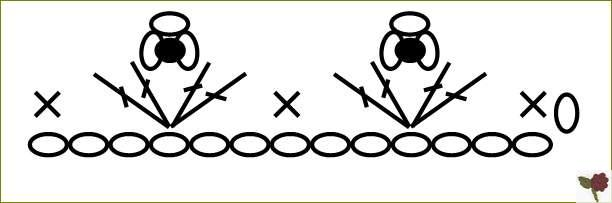 diagramme Bordure coquille à picot