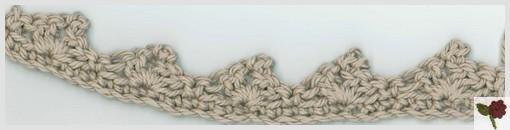 bordure picot crochet