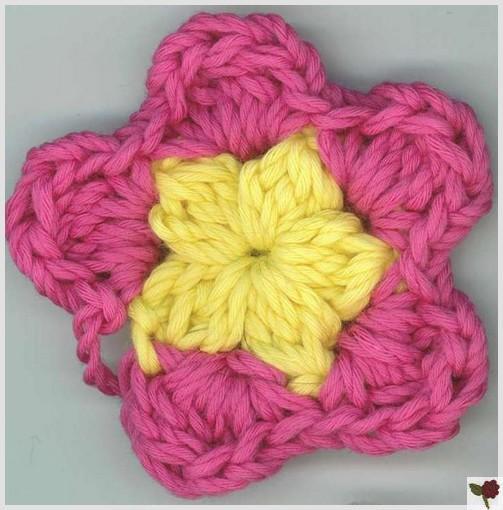point fleur de type 2 5 p tales biblioth que de points crochet loisirs. Black Bedroom Furniture Sets. Home Design Ideas