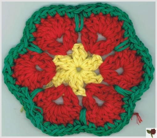 Fleur africaine 6 pétales - Sena - Katia